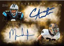 2011 Topps Inception Football Dual Rookie autograph