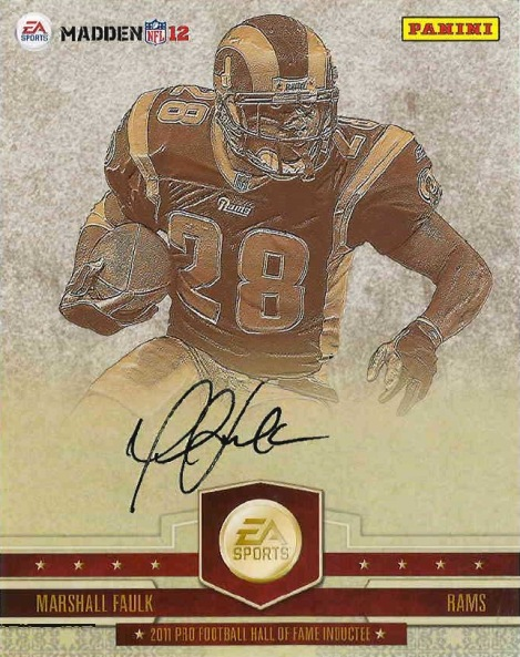 half off 53fa4 d32cc Marshall Faulk's autograph: It's in the game - Beckett News
